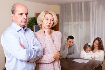 Unhappy multigenerational family