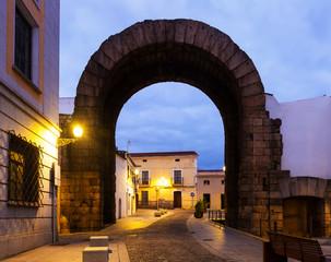 Arch of Trajan in dawn. Merida