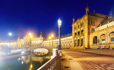 Evening  view of Plaza de Espana