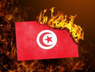 Flag burning - Tunisia