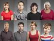 Emotionen, Mehrfach Portraits von Männern und Frauen