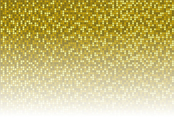 Gold Dotted Background - Mosaic Disco Pattern
