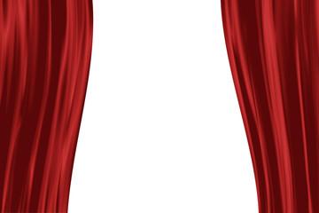 halboffener Theater-Vorhang