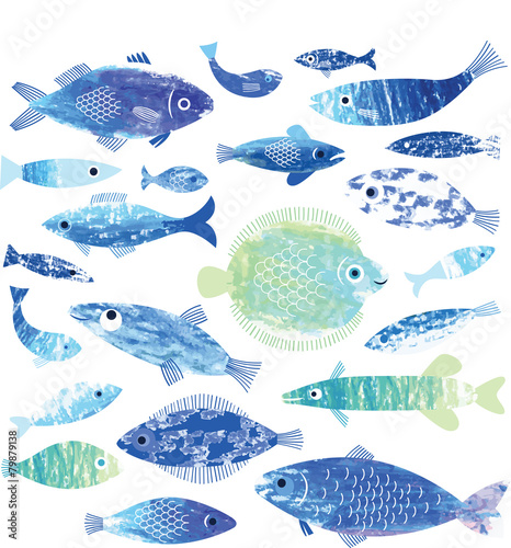 set of fish art - 79879138