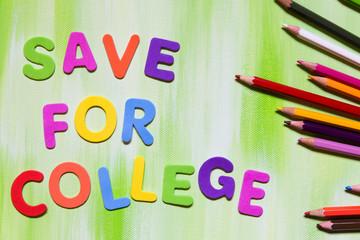 Bunte Buchstaben, Sparen für die Ausbildung