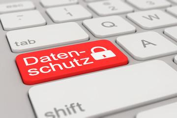 keyboard - datenschutz - red