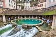 Leinwanddruck Bild - La fosse Dionne - the spring in the center of Tonnerre