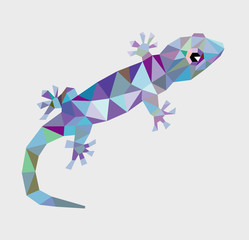 Gecko triangle low polygon vector
