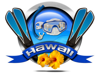 Hawaii Snorkeling - Metal Icon