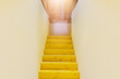 wooden stairs to shiny attic upward - 79882596