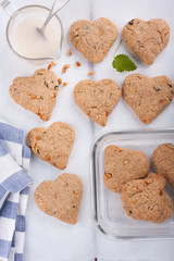 Heart shaped cookies.