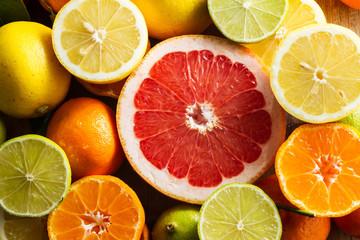 lemons, limes, grapefruit, clementines.