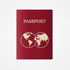 Vector passport. Flat Design