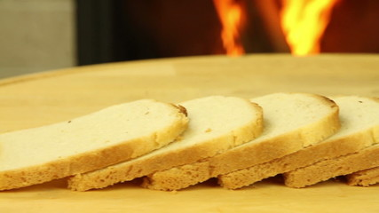 Slices of bread for toasting