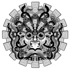 Aztec Sun Mask