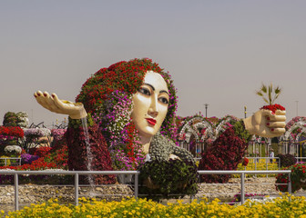 flower bed as a figure of a woman in the Miracle Garden