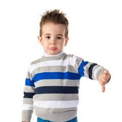 Kid doing a bad signal