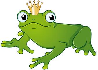 Froschkönig wartet auf seinen Kuss