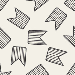 Doodle Rank seamless pattern background