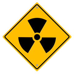 Radioactive - vector sign.