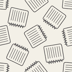 doodle notebook seamless pattern background