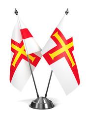 Guernsey - Miniature Flags.