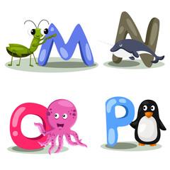 Illustrator alphabet M,N,O,P