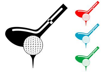 Pictograma golf en varios colores
