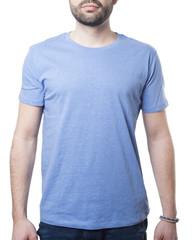 plain blue tshirt with copy space