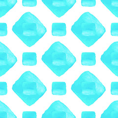 Sky blue vector seamless pattern. Watercolor graphical texture
