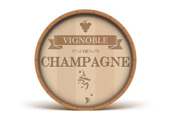 Tonneau Vignoble de Champagne