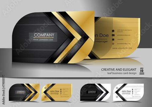Creative leaf business card design - 79888193