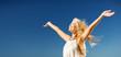 Leinwanddruck Bild - beautiful woman enjoying summer outdoors