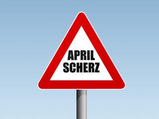 Achtung Aprilscherz, Vorsichtzeichen