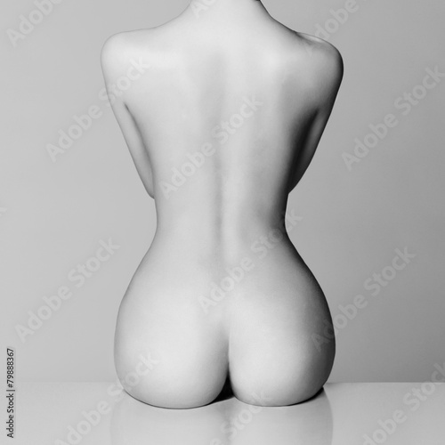 Keuken foto achterwand Akt perfect female body