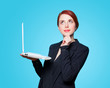 Business women with laptop