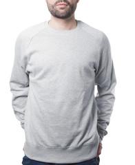 plain grey pullover