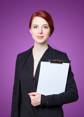 Portrait of business women with tablet