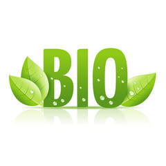 bio green sign with leaves