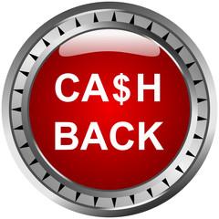 Cashback Button Rot Dollar