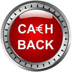 Cashback Button Rot Euro