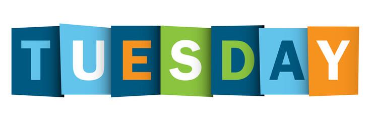 TUESDAY (icon symbol button)