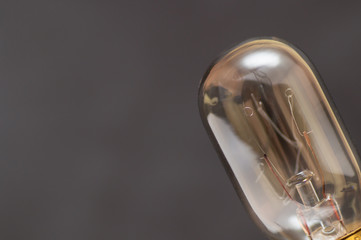 Small bulb where the light emitter inside is well visible