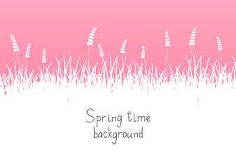 Pink spring background with place for text