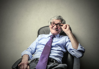 Relaxed businessman