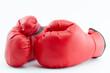 Rote Handschuhe für Boxsport