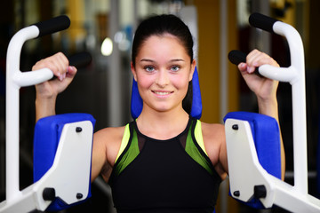 Junge Frau beim Training