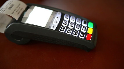 Paying with a credit card concept