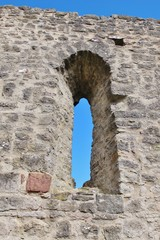 Fenster, Ruine Homburg, Unterfranken