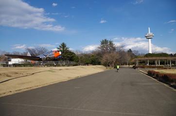 所沢航空記念公園の通路